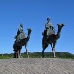 御宿 月の沙漠の銅像の画像