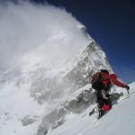 雪山登山の画像